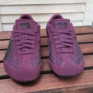 PUMA Purple and Black Retro 90s Sneakers Shoes